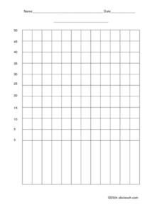 Blank Bar Graph Worksheets Blank Bar Graph Interval Of 5 3rd 4th Grade Worksheet