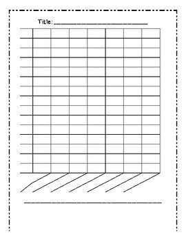 Blank Bar Graph Worksheets Blank Bar Graph Template 7 Columns by Mrs Cassady
