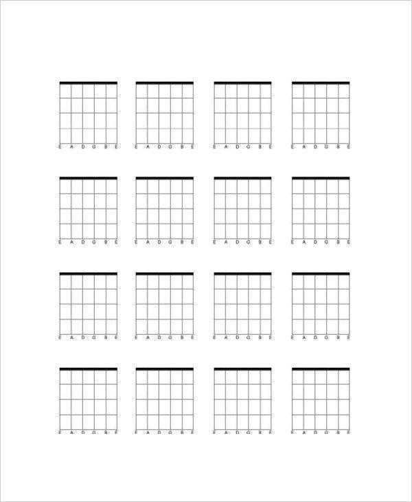 Blank Bass Fretboard Diagram 5 Blank Guitar Chord Charts Free Sample Example