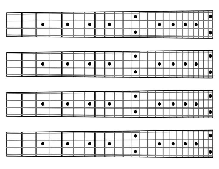 Blank Bass Fretboard Diagram 61 Best Images About Music Charts & Diagrams On Pinterest