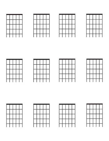 Blank Bass Fretboard Diagram Guitar Fretboard Diagrams