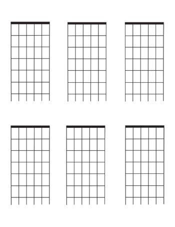 Blank Bass Fretboard Diagram Guitar Fretboard Diagrams Six Fret Blank Template 6 Per