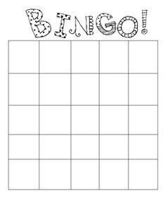 Blank Bingo Card Template 4x4 Blank Bingo Card Template
