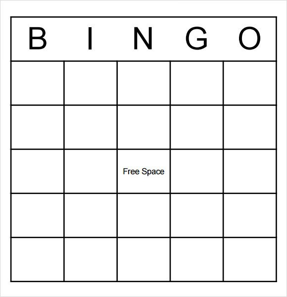 Blank Bingo Card Template 9 Blank Bingo Samples Pdf Word