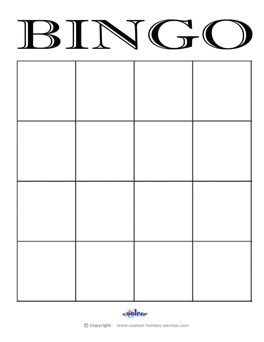 Blank Bingo Card Template Bingo On Pinterest