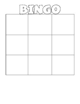 Blank Bingo Card Template Blank Bingo & Wordo Grids by Erin Stripling