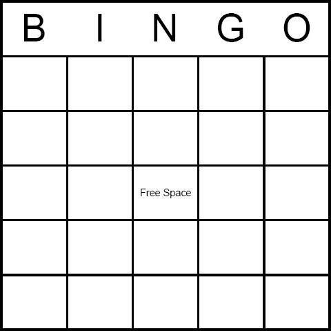Blank Bingo Card Template Blank Bingo Card Have Baby Shower Guests Fill In the