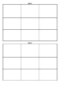 Blank Bingo Card Template Blank Bingo Cards 3x3 by Madeleine Lifsey