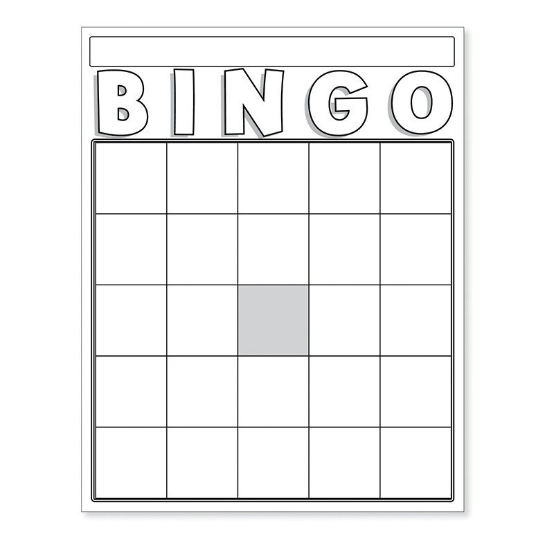 Blank Bingo Card Template Blank Bingo Cards White Board & Card Games Line