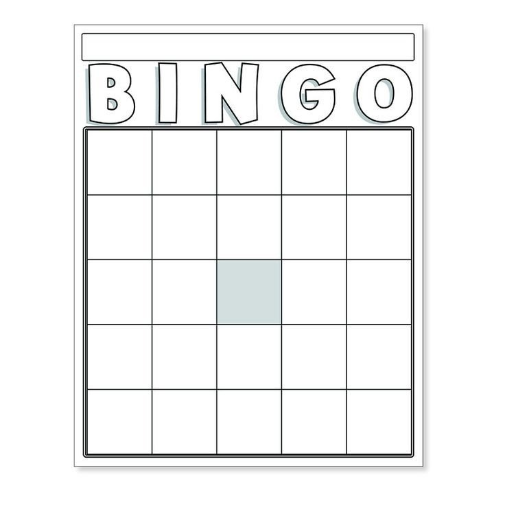 Blank Bingo Card Template Blank Bingo Cards White