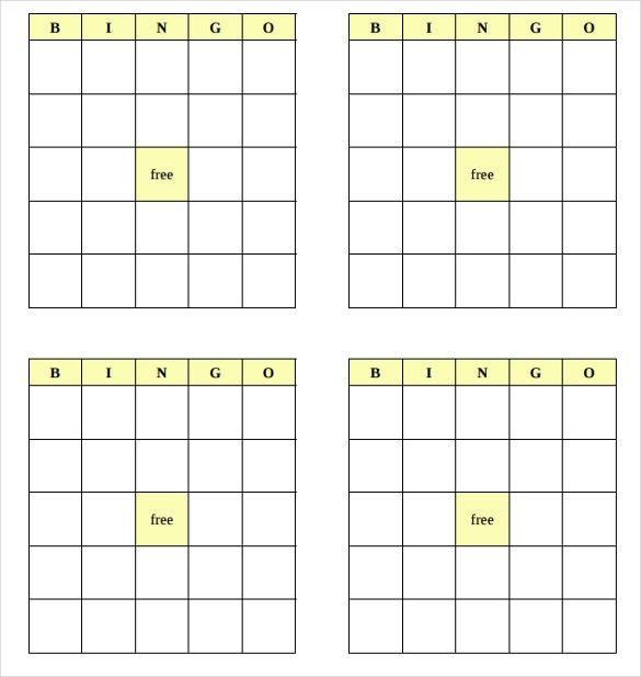Blank Bingo Card Template Blank Bingo Template 14 Free Psd Word Pdf Vector Eps