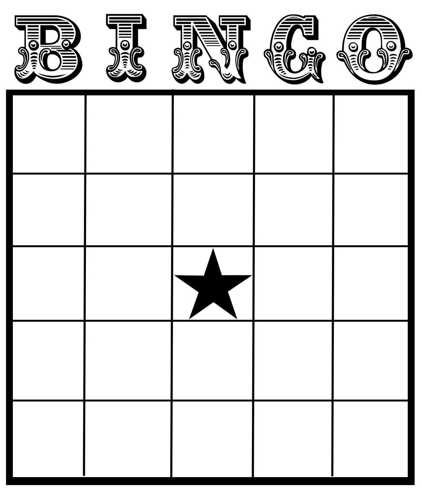 Blank Bingo Card Template Christine Zani Bingo Card Printables to
