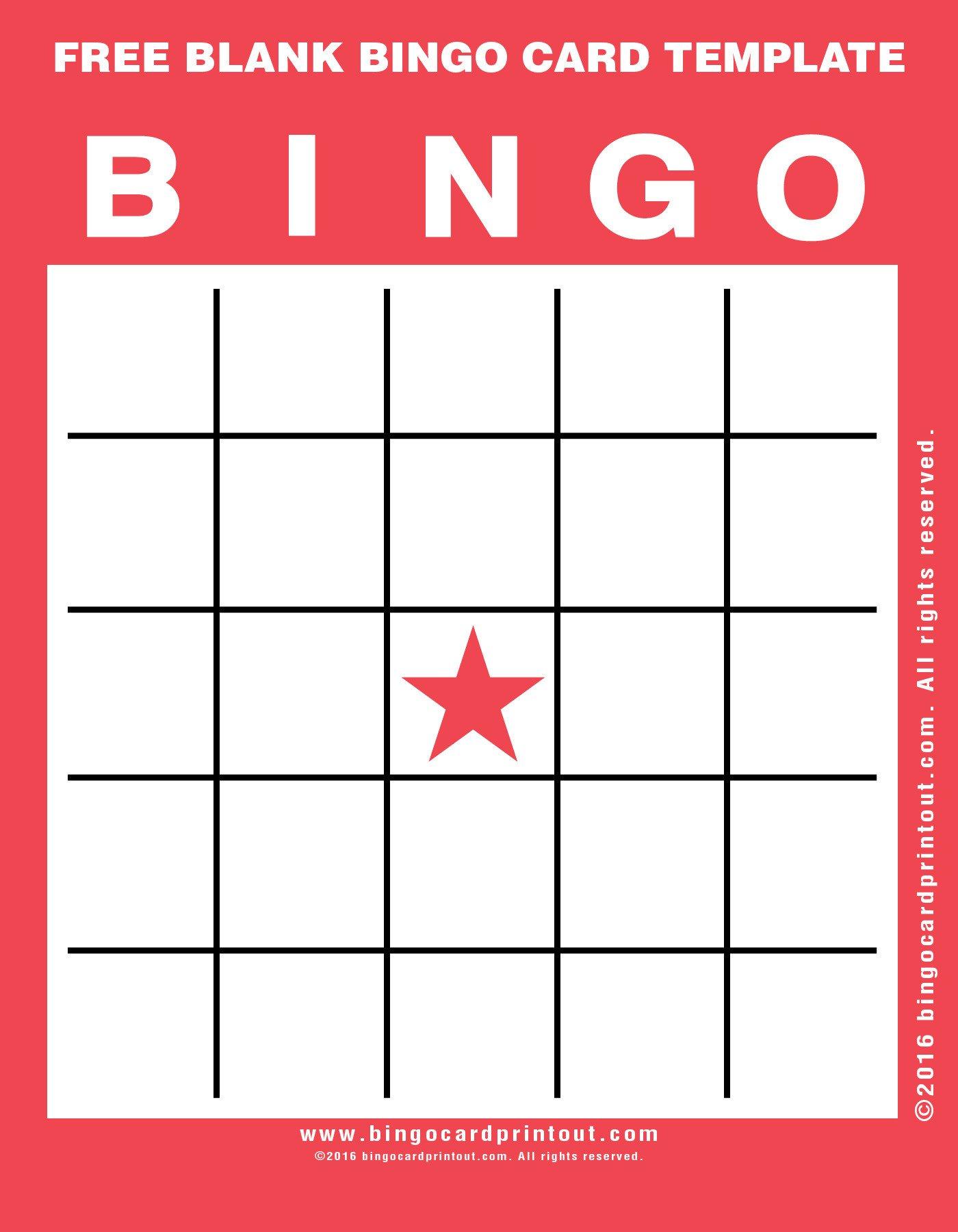 Blank Bingo Card Template Free Blank Bingo Card Template Bingocardprintout