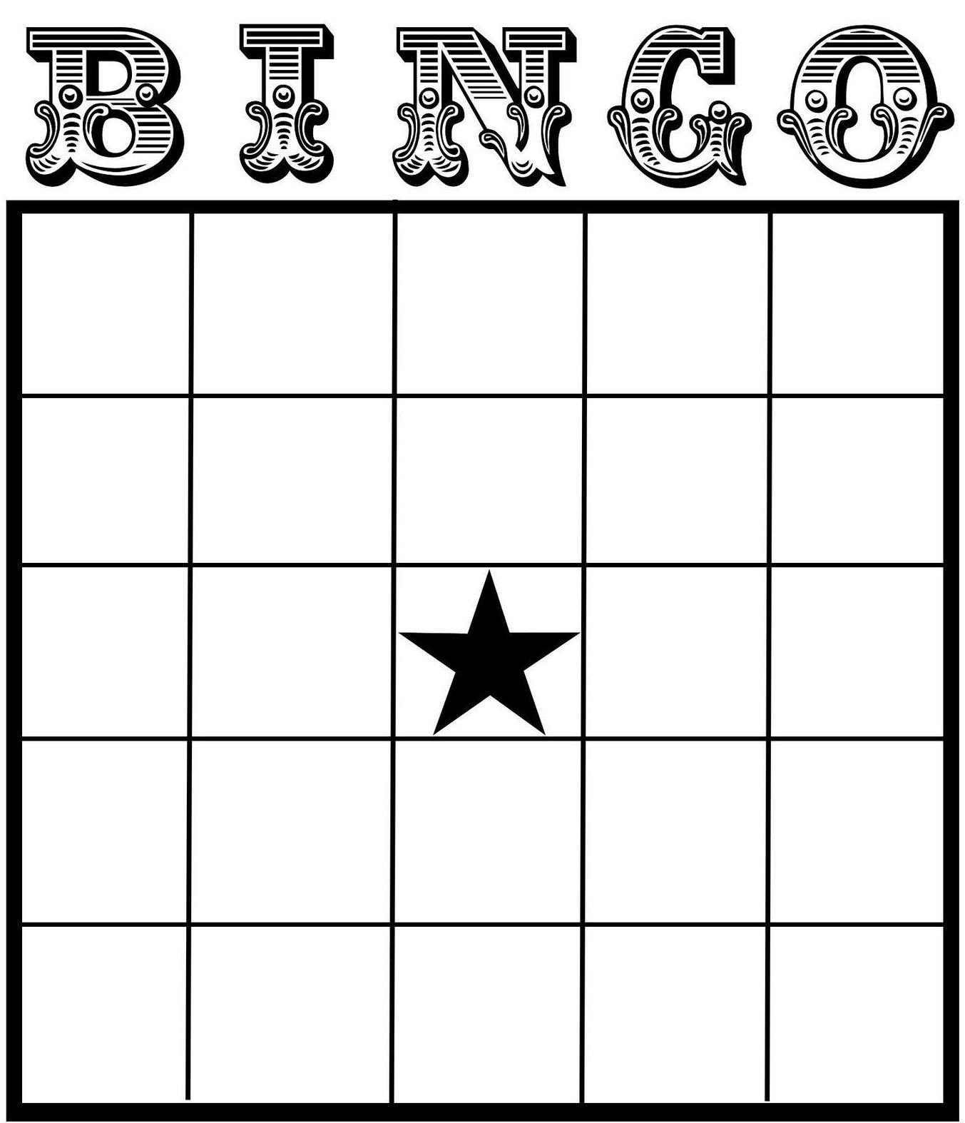 Blank Bingo Card Template Free Printable Bingo Card Template Set Your Plan & Tasks