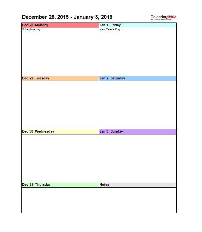 Blank Calendar Template Word 26 Blank Weekly Calendar Templates [pdf Excel Word]