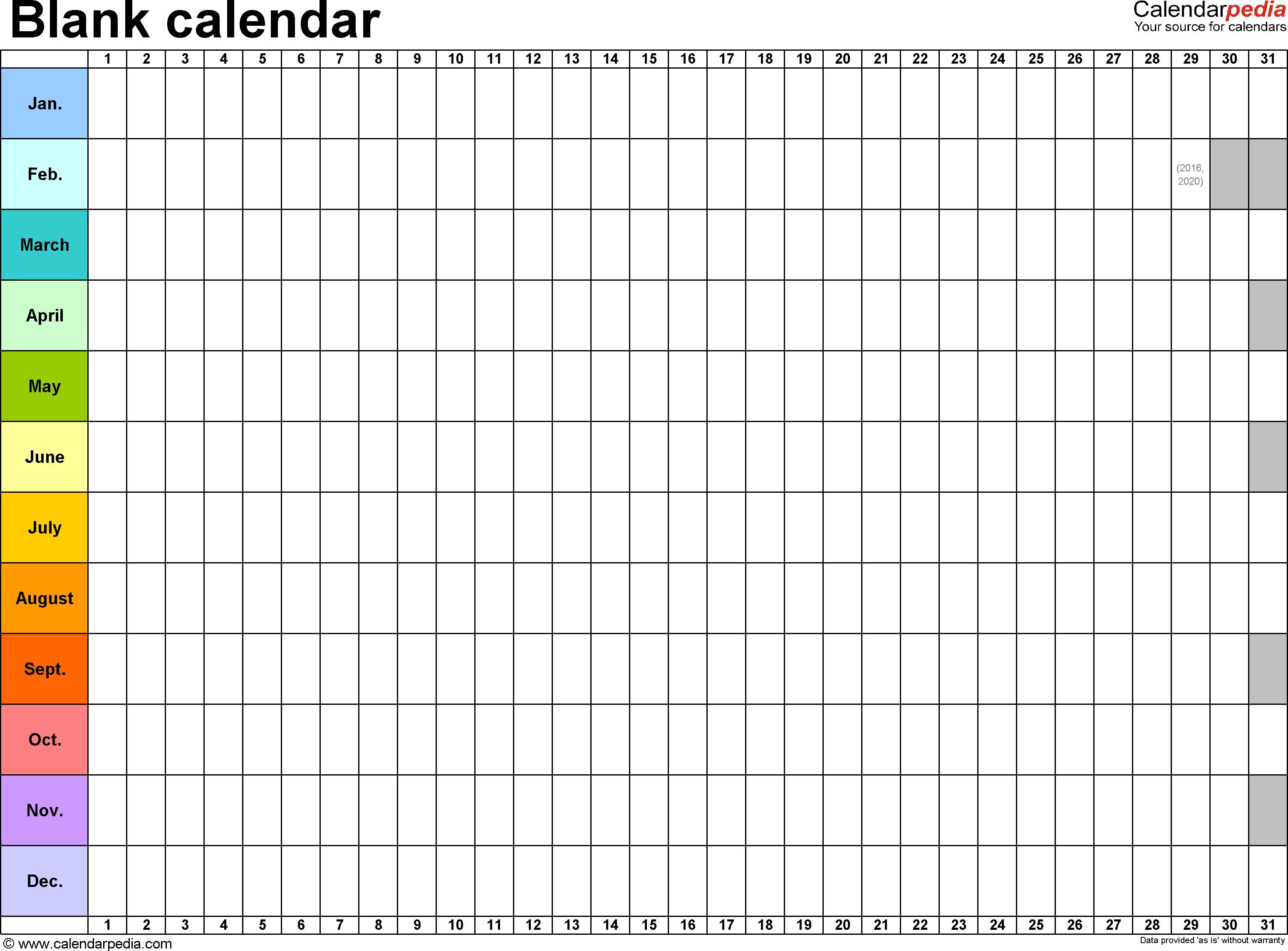 Blank Calendar Template Word Blank Calendar 9 Free Printable Microsoft Word Templates