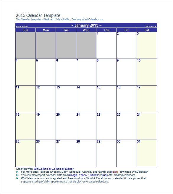 Blank Calendar Template Word Calendar Template 41 Free Printable Word Excel Pdf