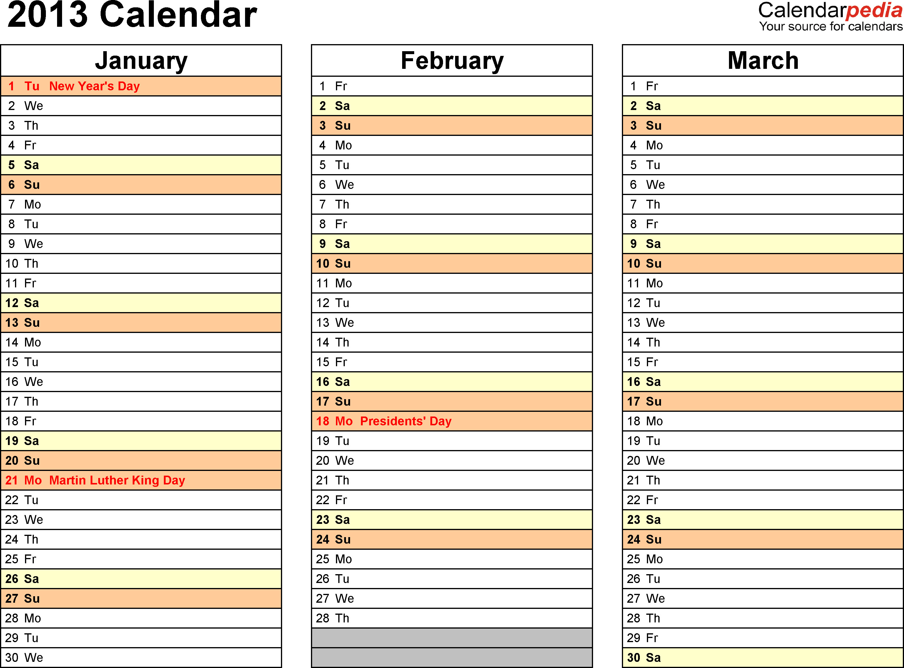 Blank Calendar Template Word Free Calendar Template 2013