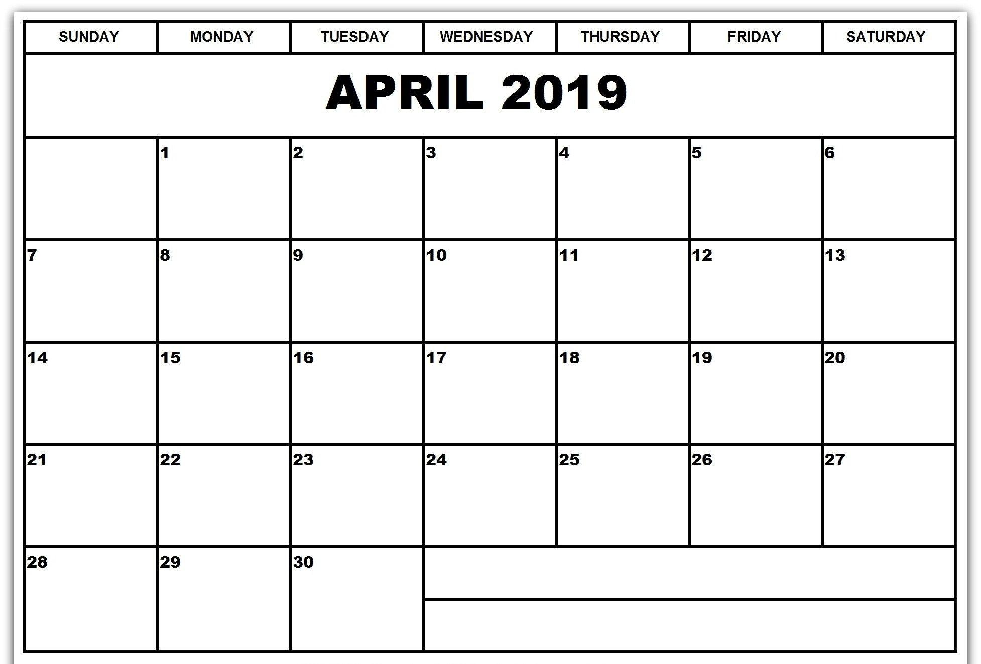Blank Calendar Template Word Printable Blank 2019 Calendar Templates