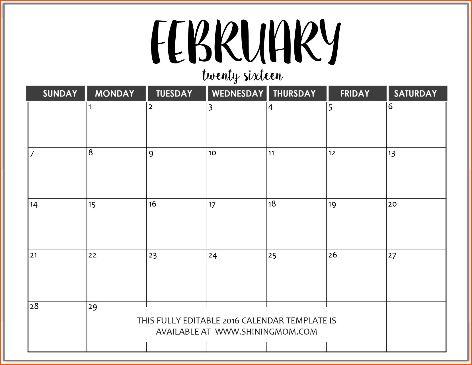 Blank Calendar Template Word Word Calendar Template