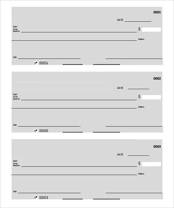 Blank Check Template Pdf Blank Check Template – 30 Free Word Psd Pdf & Vector