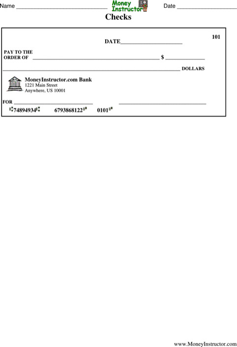 Blank Check Template Pdf Download Blank Check Template for Free formtemplate