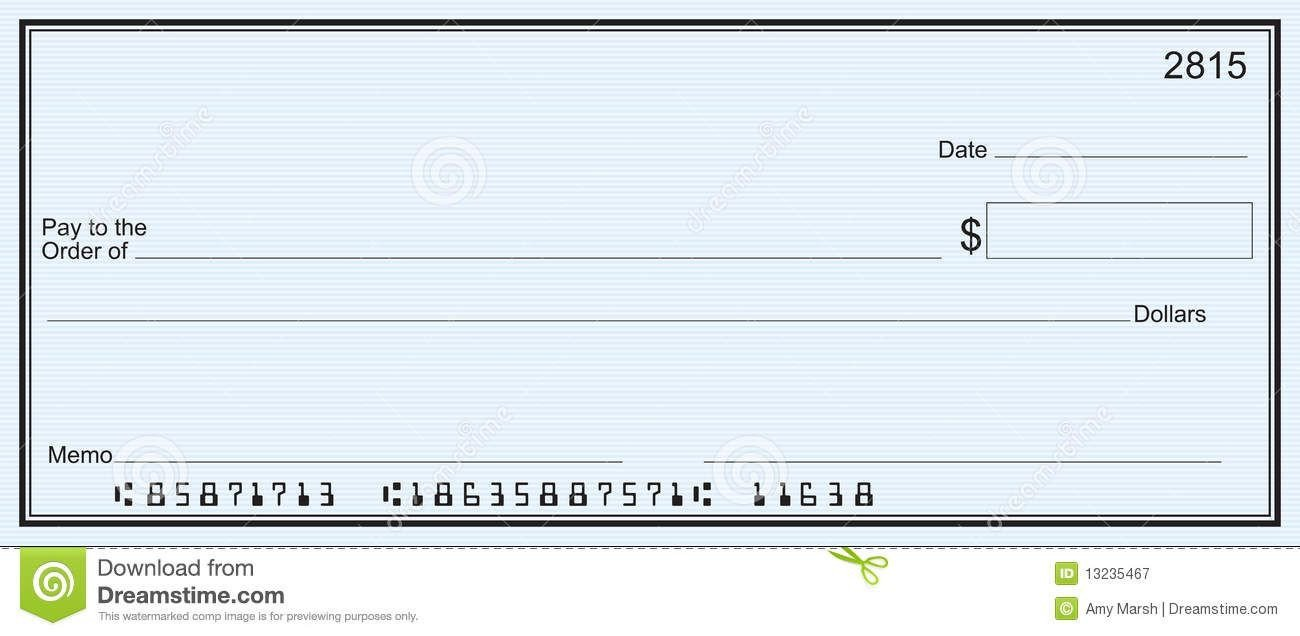 Blank Check Template Pdf Free Printable Checks Template Template