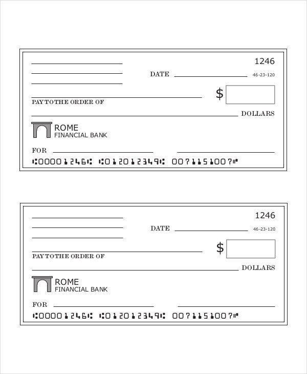 Blank Check Template Pdf Payroll Check Templates 10 Free Printable Word Excel & Pdf