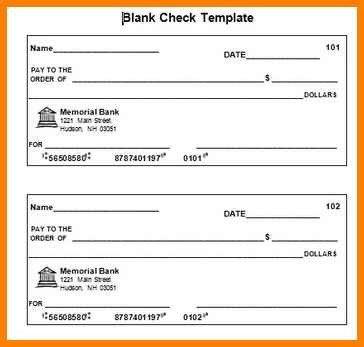 Blank Cheque Template Editable 10 Editable Blank Check Template