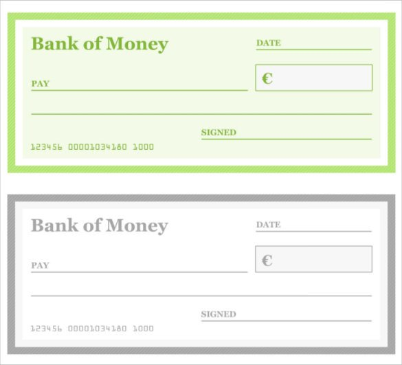 Blank Cheque Template Editable Blank Check Template – 30 Free Word Psd Pdf & Vector