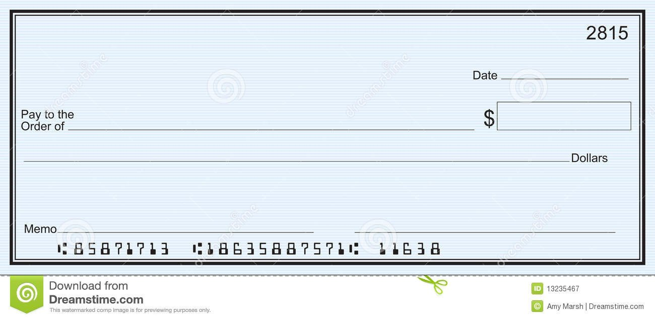 Blank Cheque Template Editable Blank Check Template
