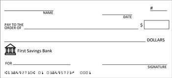 Blank Cheque Template Editable Pletely Editable Check Template Great for Class