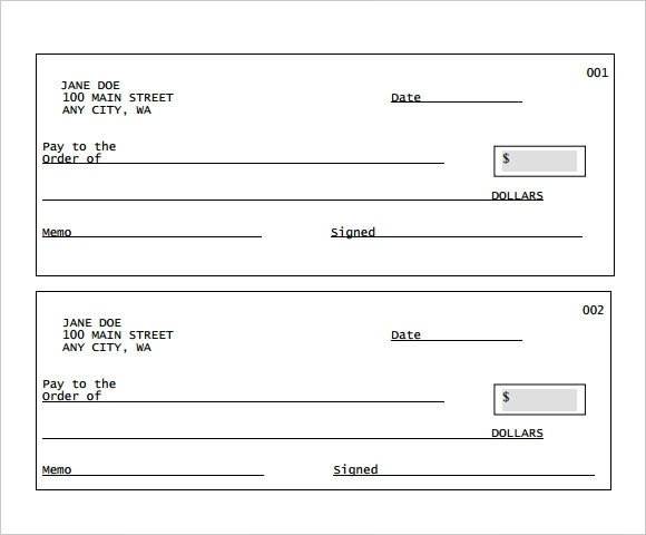 Blank Cheque Template Editable Sample Blank Cheque 5 Documents In Pdf Psd