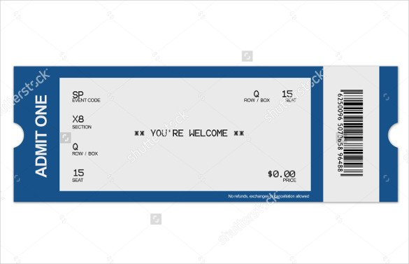 Blank Concert Ticket Template 29 Blank Ticket Templates Psd Vector Eps Ai Word