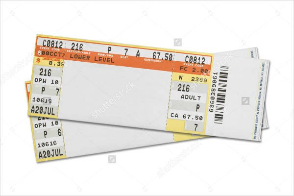 Blank Concert Ticket Template 37 Ticket Templates Download