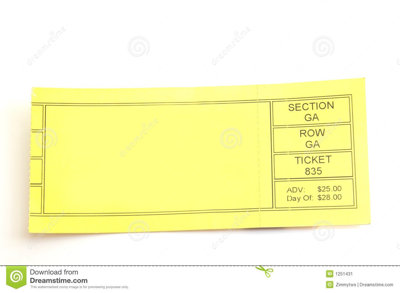 Blank Concert Ticket Template Blank Concert Ticket Clipart Clipart Suggest