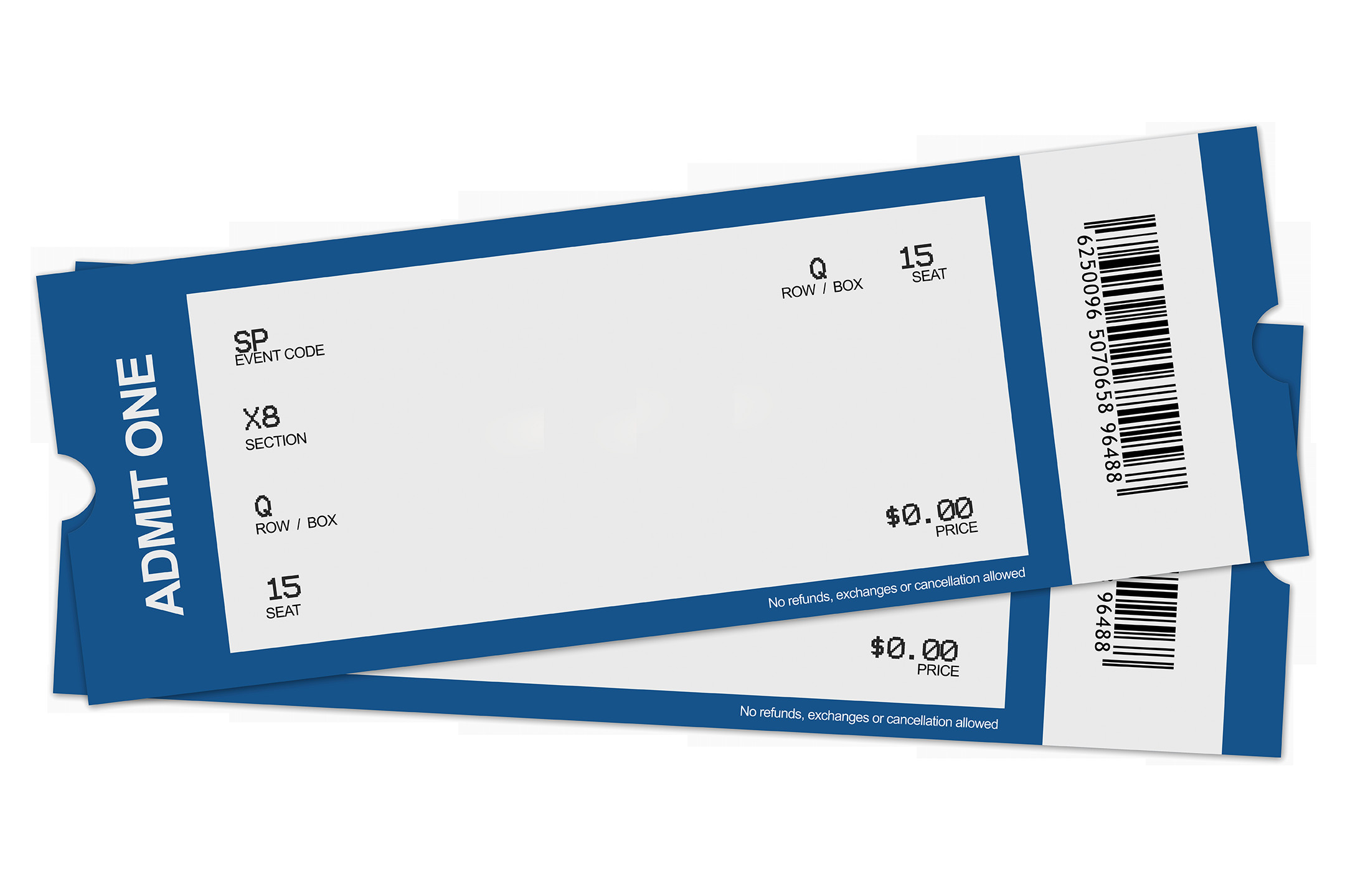 Blank Concert Ticket Template Blank Ticket Clipart Best