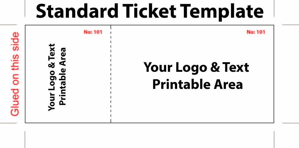 Blank Concert Ticket Template Free Editable Standard Ticket Template Example for Concert