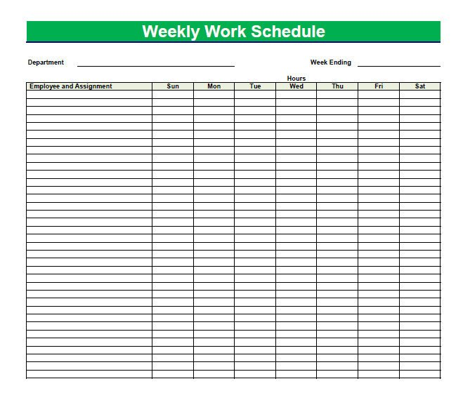 Blank Daily Schedule Template Printable Blank Pdf Weekly Schedules