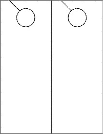 """Blank Door Hanger Template 4 25"""" X 11"""" Door Hangers Printable Door Hangers Ol245"""