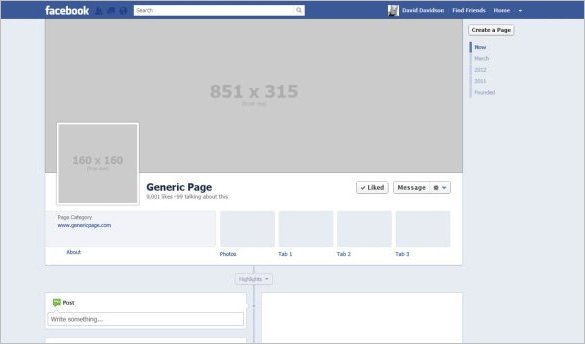 Blank Facebook Profile Template 14 Banner Size Templates