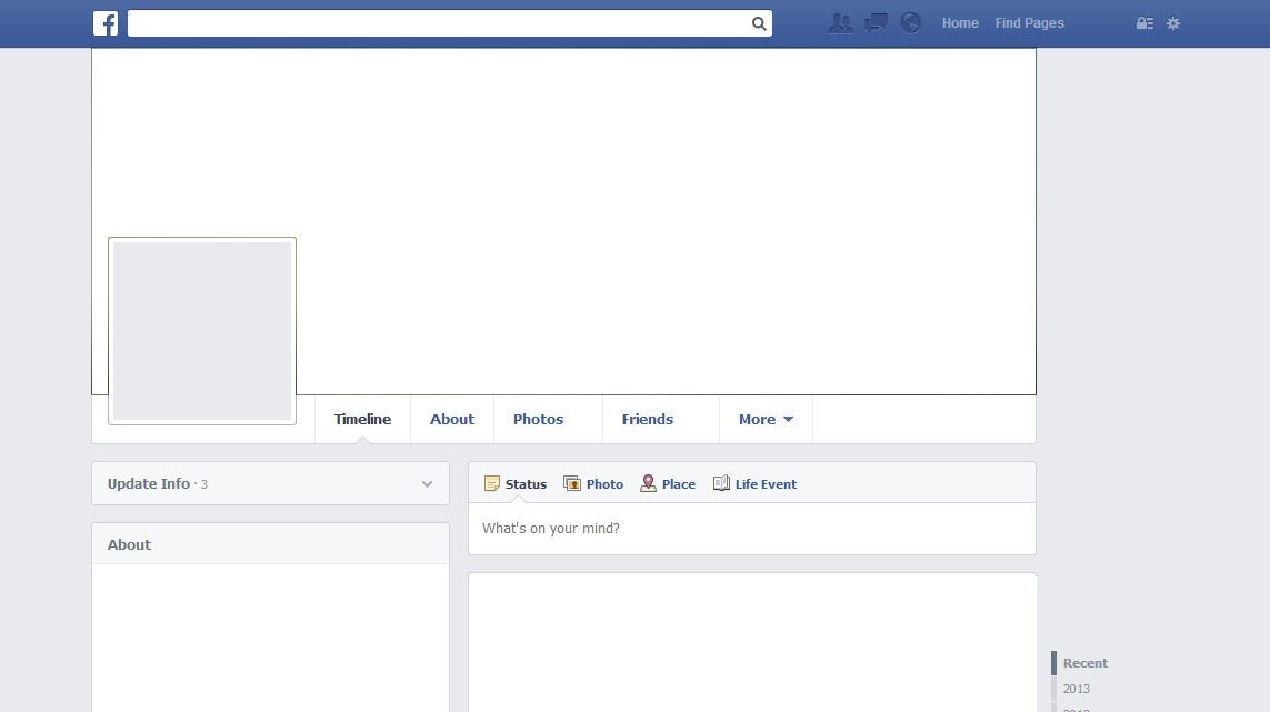 Blank Facebook Profile Template Match Profile Picture with Cover On Using