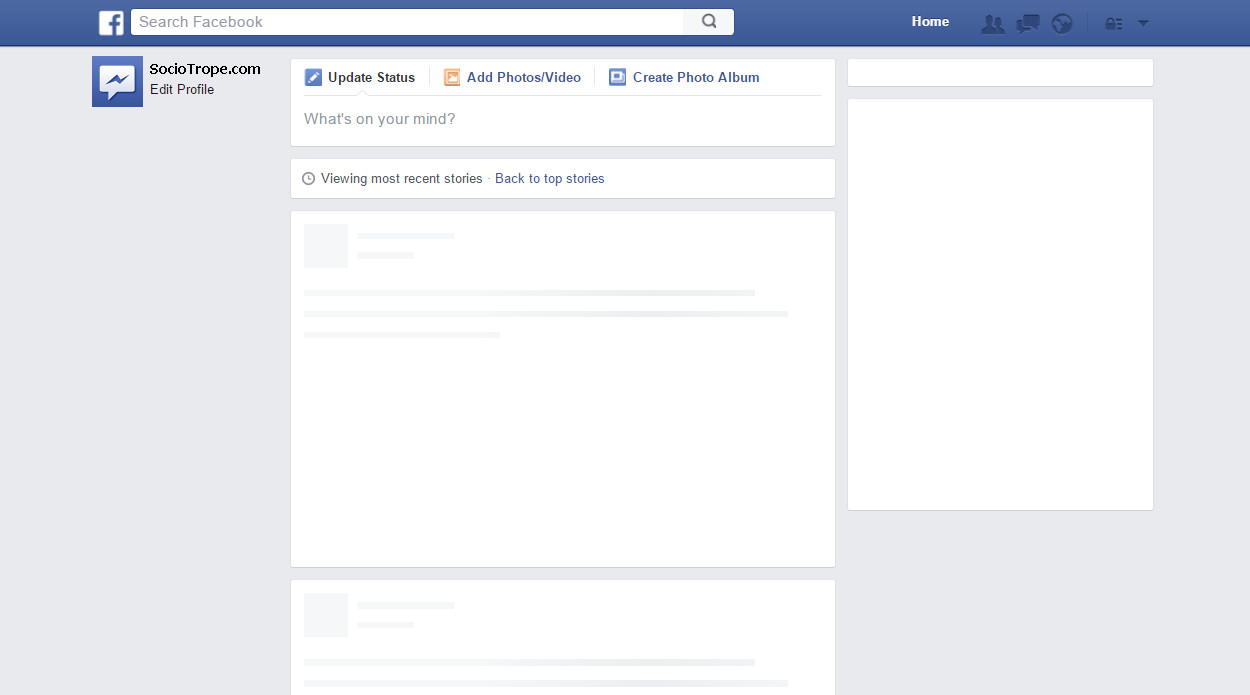 Blank Facebook Profile Template Post Template