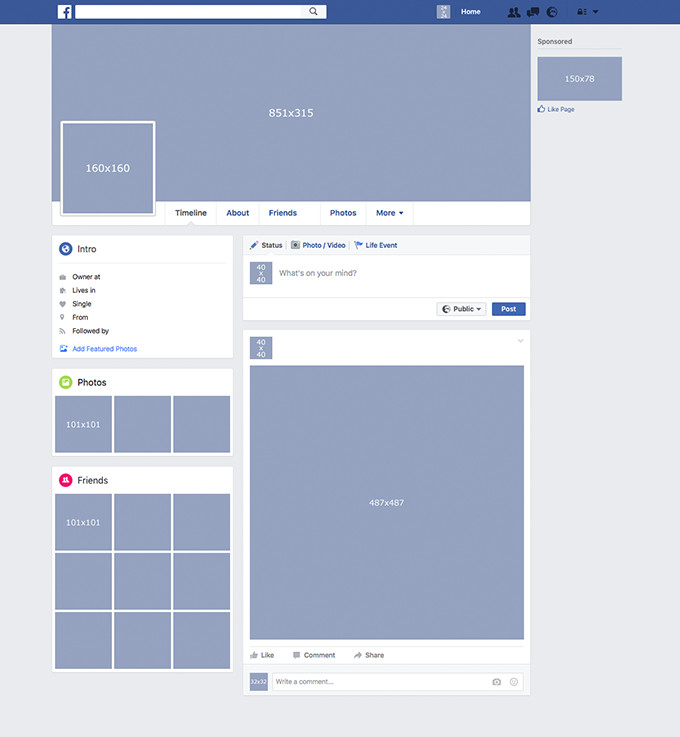 Blank Facebook Profile Template Template Available for Free Download