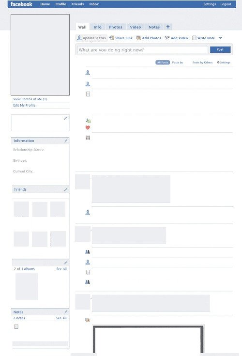Blank Facebook Profile Template Template