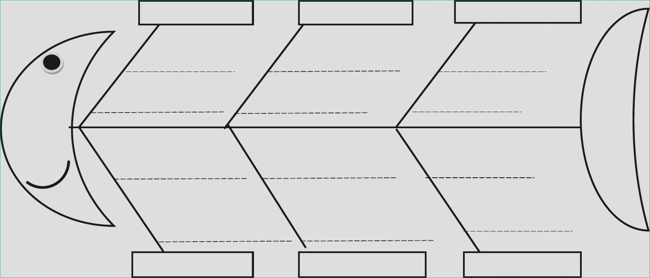 Blank Fishbone Diagram Template Blank Cause and Effect Diagram