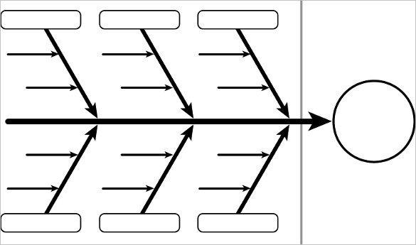 Blank Fishbone Diagram Template Word Fishbone Diagram Template Free Templates