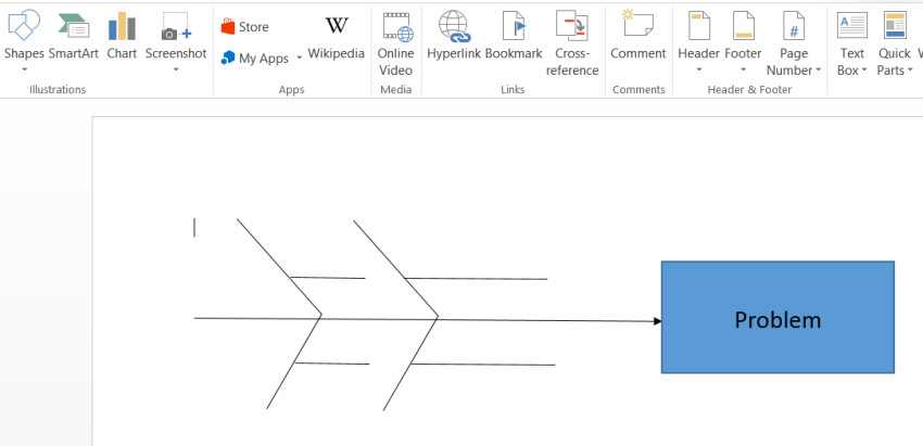 Blank Fishbone Diagram Template Word Fishbone Diagram Template In Word