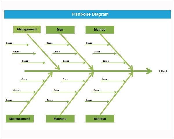 Blank Fishbone Diagram Template Word Sample Fishbone Diagram Template 12 Free Documents In