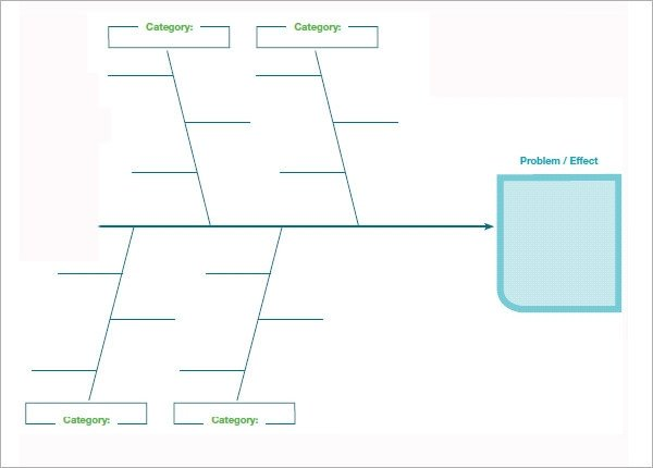 Blank Fishbone Diagram Template Word Sample Fishbone Diagram Template 13 Free Documents In